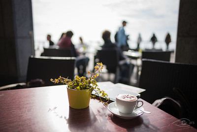 Kaffee-Trinken am Bodensee, Bayern, Deutschland