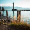 Hafen von Lindau, Schwaben, Bayern, Deutschland
