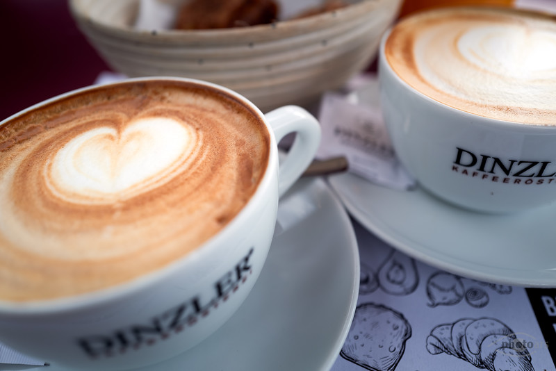 Cappuccino bei Dinzler, Irschenberg, Oberbayern, Bayern, Deutschland