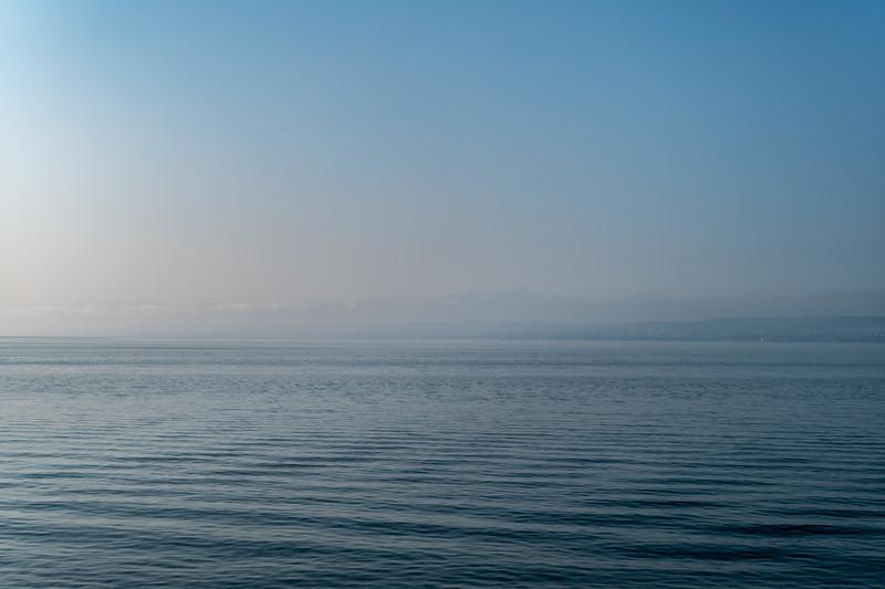 Bodensee bei der Überfahrt nach Konstanz, Baden-Württemberg, Deutschland
