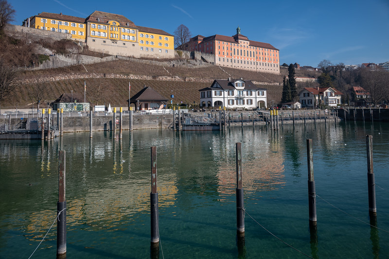 Hafen von Meersburg, Bodenseekreis, Tübingen, Baden-Württemberg, Deutschland