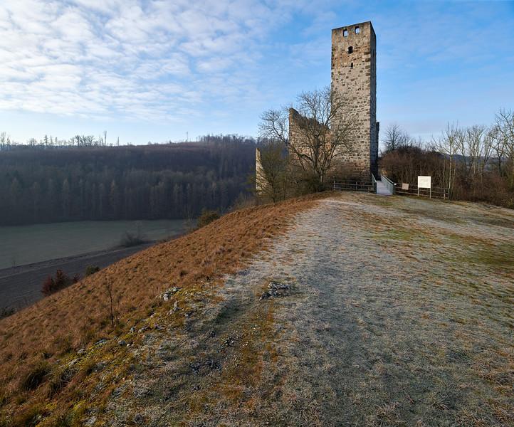 Burgruine Niederhaus, Ederheim-Hürnheim, Donau-Ries, Schwaben, Bayern, Deutschland