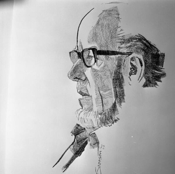 Kohlezeichnung Wilhelm Dreesen 1972