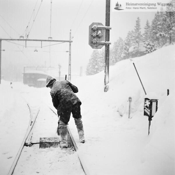 Davos Weichenreinigung vom Schnee