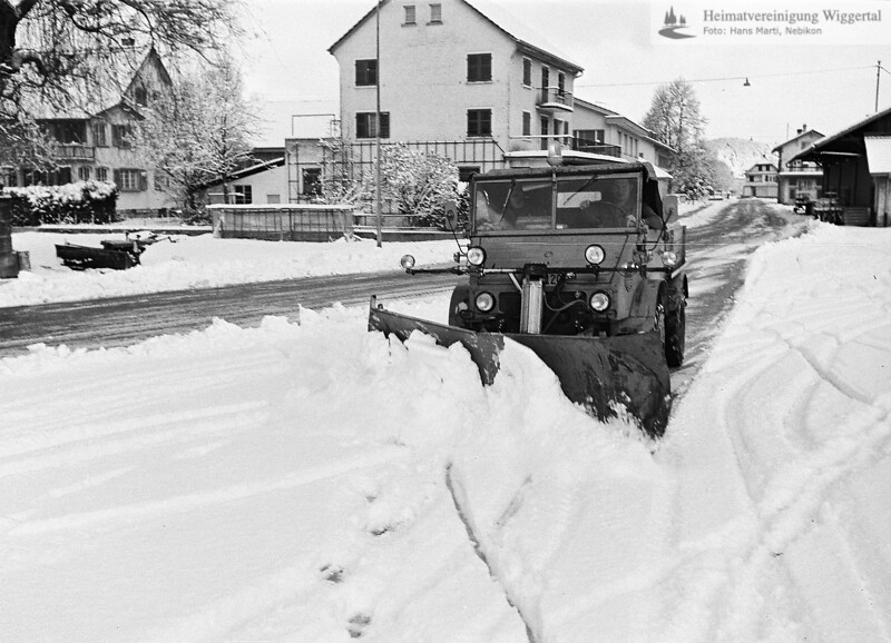 Nebikon Winter Schneeräumung 1976-1977