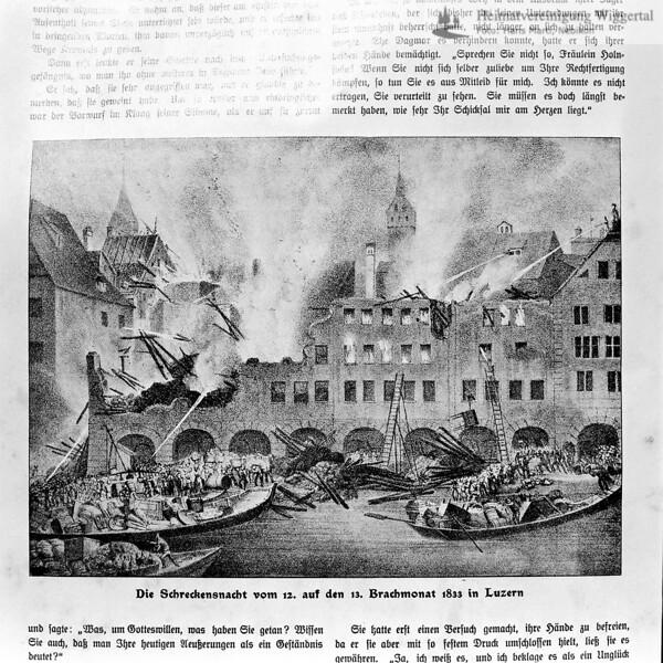 Zeitungsausschnitt von Luzern 1833