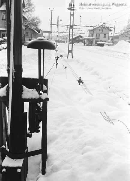 Nebikon Winter Bahnhof 1976-1977