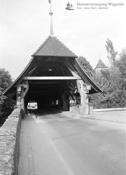 Aarburg Holzbrücke 1982