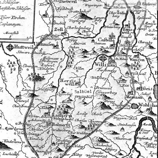 Fotografie von Landkarte