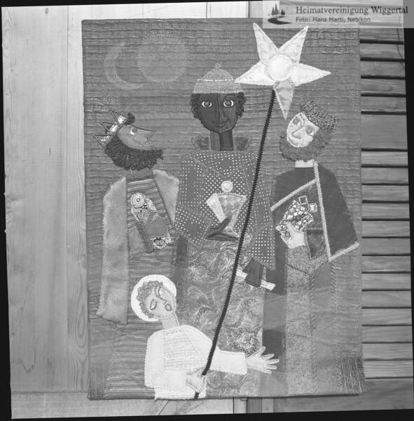 #030643 | Sternsingen; Wandteppich von Margrit Roelli-Hubacher; Dreikönige; fja