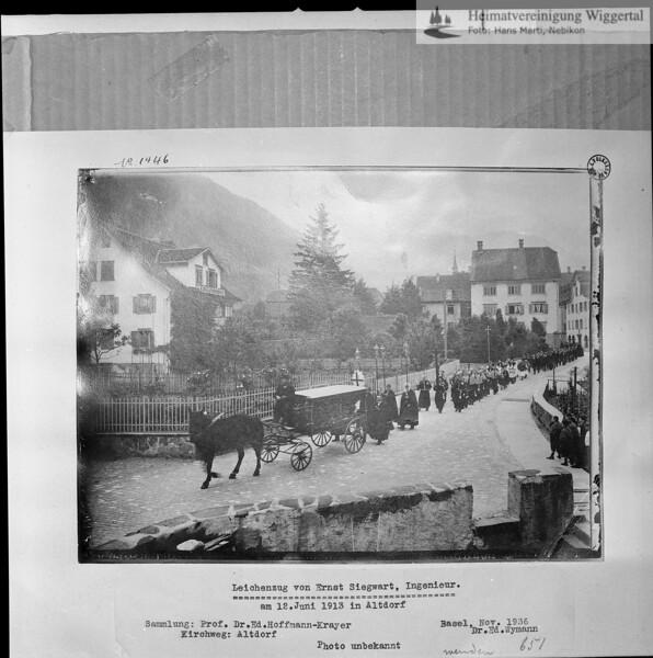 #030806 | Leichenzug in Altdorf; 1913; Reprofoto; fja