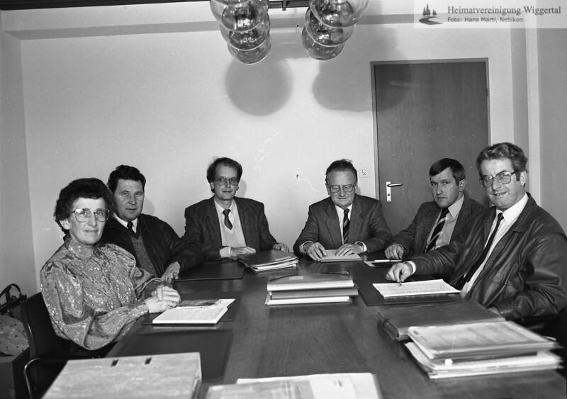 #040828 | vlnr: Frieda Kneubühler, Armin Gisler, Kurt Hodel, Alfred Vogel, Willi Bühler, Rudolf Felber; hdn