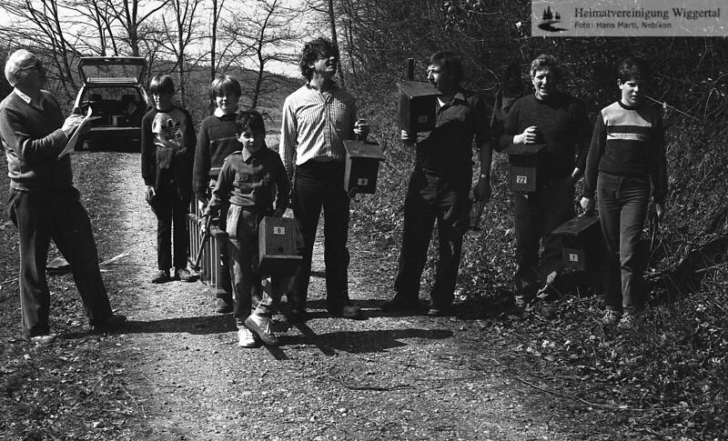 Nistkästen Aktion 1986 Graben