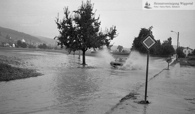 Überschwemmung 30. Aug. 1975 Freitag/Samstag