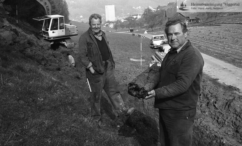 Graben Ausbau Wasserversorgung 1985
