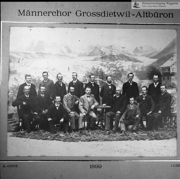 #050007 | Männerchor Grossdietwil-Altbüron; 1899; Reprofoto; fja