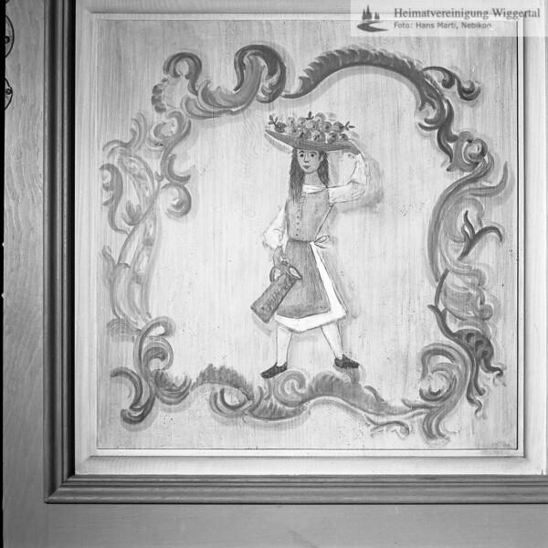 #050497 | Landvogteischloss Willisau, erbaut 1790-95, Wandmalerei Rokoko-Zimmer, Maler unbekannt, restauriert 1979-82 Kunstmaler Willy Huwiler; kvh; wikr