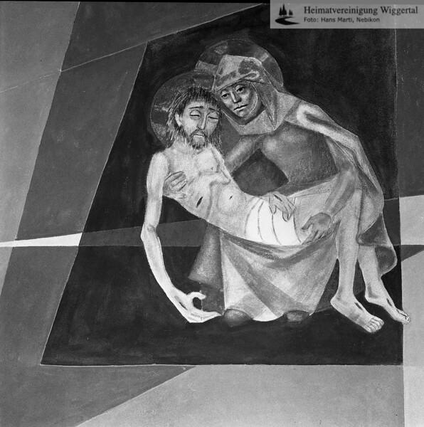#050504 | Leichenhalle in Menzberg LU Sgraffito der Tod von Willy Huwiler Ruswil; kvh