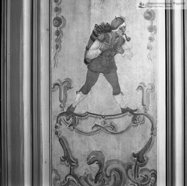 #050499 | Landvogteischloss Willisau, erbaut 1790-95, Barockbau, Wandmalerei im Rokoko- Zimmer, Maler unbekannt. restauriert 1979-82, Kunstmaler Willy Huwiler; kvh; wikr