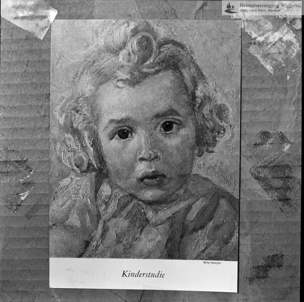 #050526 | Blatt; Kinderstudie; Willy Huwiler; fja; kvh