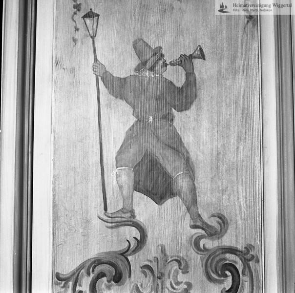 #050502 | Landvogteischloss Willisau, Barockbau 1790-95, Vogt Franz Bernhard Feer; Rokoko-Zimmer mit Wandmalereien, wohl etas später Maler unbekannt. restauriert 1997-82, Kunstmaler Willy Huwiler; kvh; wikr