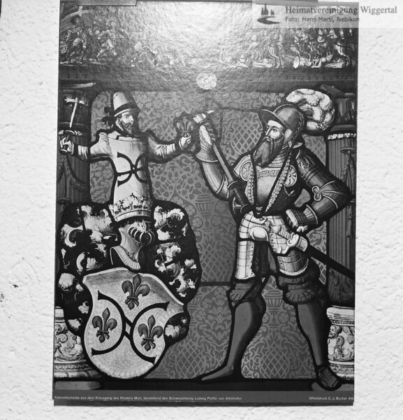 Kabinettscheibe im Kloster Muri Ludwig Pfyffer darstellend