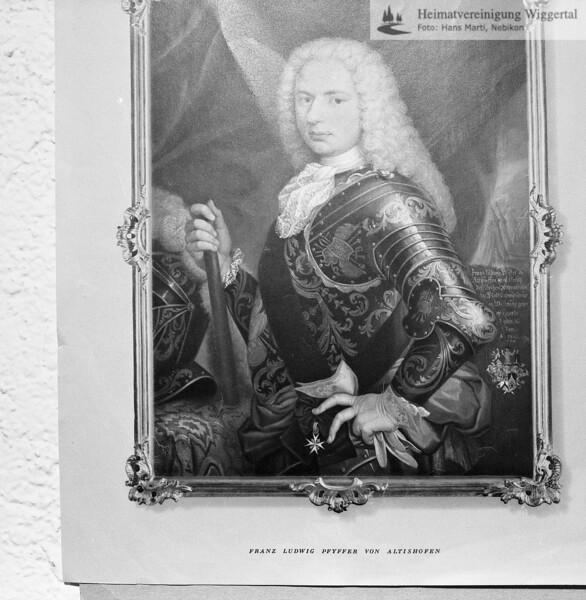 Franz Ludwig Pfyffer Altishofen Gardehauprmann in päpstlichen Diensten 1727-1754 (=Dienstzeit)