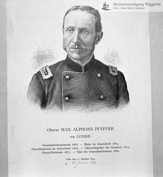 Oberst Max Alphons Pfyffer 1834-1890