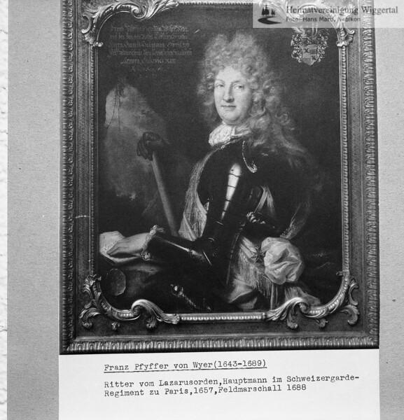 Louis Pfyffer von Wyher Feldmarschall (Alpenrelief)