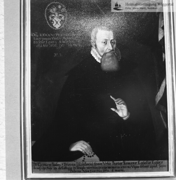 Jodocus Pfyffer Originabild bei Joseph Melchior Galliker