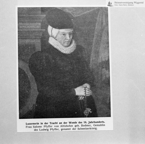 Salome Pfyffer dritte Gattin von Ludeig Pfyffer in damliger Luzerner Tracht