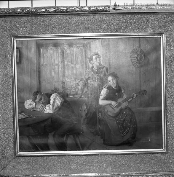 #051118 | Ausstellung Friedrich Stirnimann; Schloss Wyher, Herbst 1987; schwarz/weiss von 051110; MHN; fja