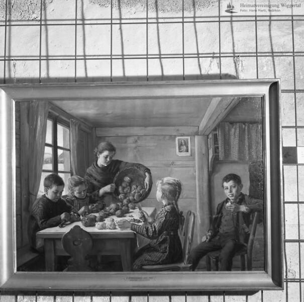 #051123 | Das Brot der Armen, 1893; Oel auf Leinwand, 69,9 x 100,5 cm. Besitzer: Schweiz.Eidgenossenschaft. Von Kunstmaler Friedrich Stirnimann, Ettiswil (1841-1901); s.051123; awk