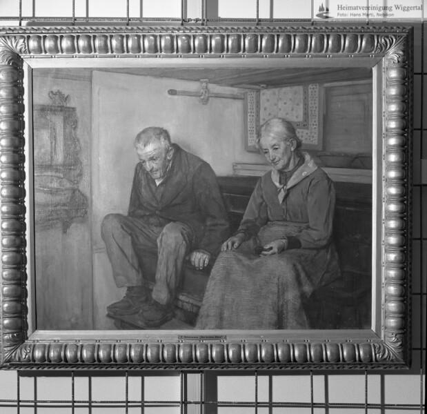 #051122 | Die beiden Alten; Oel auf Leinwand, 71 x 93,5 cm, signiert unten rechts:; F.Stirnimann 1897; Kunstmuseum Luzern KML C 19x; Von Kunstmaler Friedrich Stirnimann Ettiswil (1841 - 1901); awk