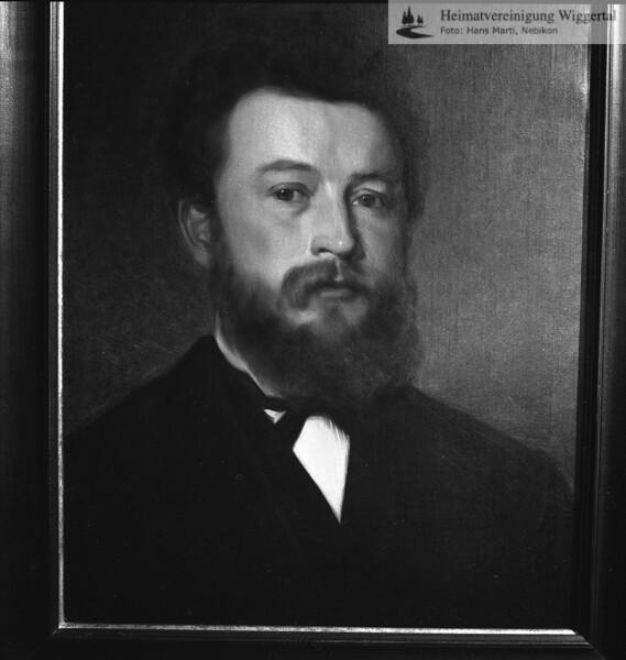 #051138 | Gemälde; Ausstellung Friedrich Stirnimann; Schloss Wyher, Herbst 1987; MHN