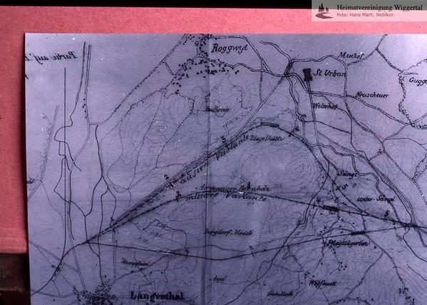 Eisenbahn Altbüron Varianten/Langenthal-Alberswil