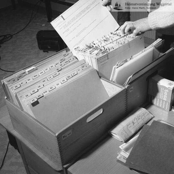 #051385 | Karteien; des Forschers, Heimatkundlers und Schriftstellers; Dr. h.c. Josef Zihlmann, Willisau; fja