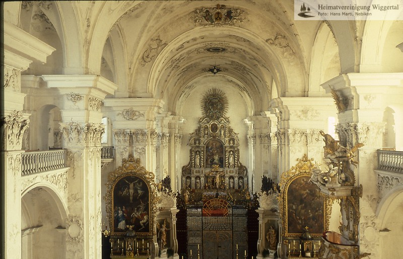 St.Urban(Burgen,Mauensee,Kastelen,Schlüssel)/St.Urban Kirche innen