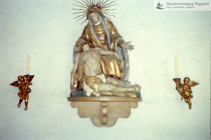 Sakrallandschaft ausgeschieden Austattung/Willisau Bösegg Pieta