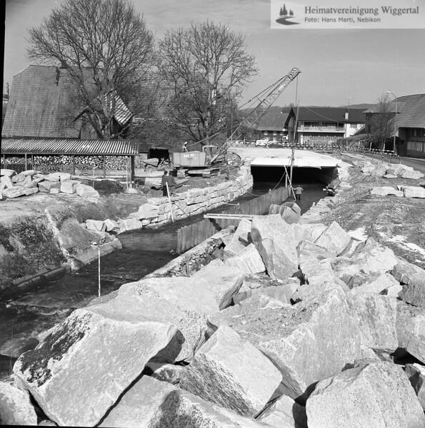Flussverbauungen Alberswil Anfang 1984