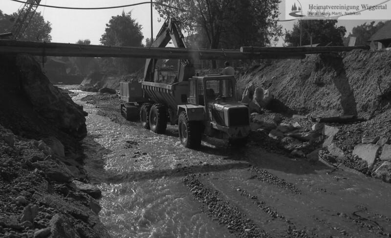 Flussverbauungen Wiggernverbauung Alberswil Dez 1986