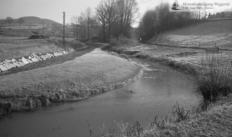 Flussverbauungen Winter 1979