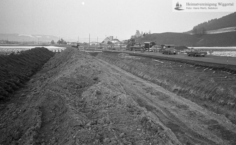 Flussverbauungen Willisau-Land Anfang 1984