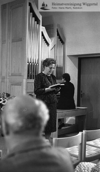 Reportagen Dagmersellen Orgelweihe 1986