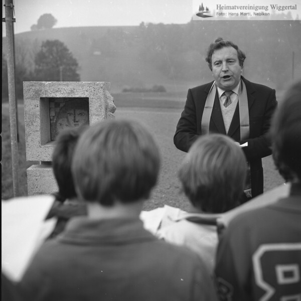 Reportagen Helgestöckli Einsegnung Niederwil Nov. 1983