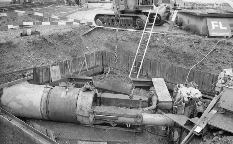 Reportagen Ara Maurerarbeiten Dorfbach Unterfführung 1989/90