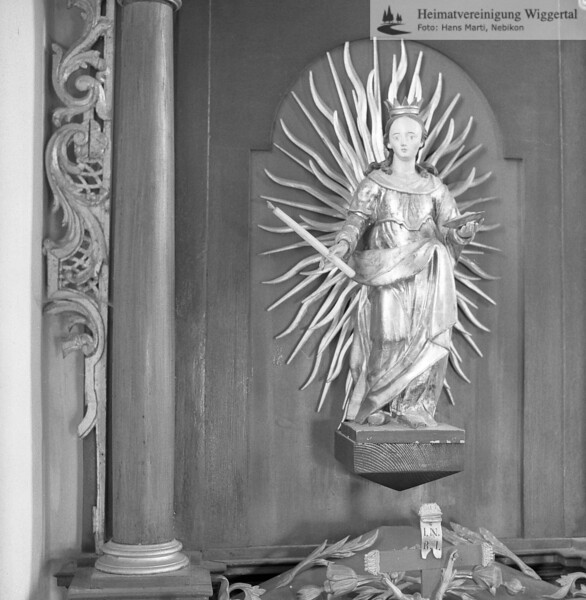 #100062 | Kapelle Oberroth; linker Seitenaltar; vor der Renovation 1986; amei; fja