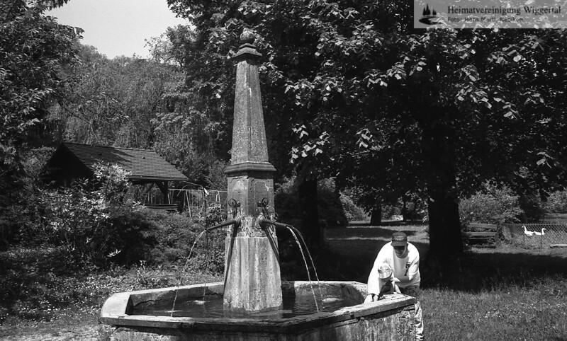 #100288 | Zisterzienser; Lucelle; Brunnen im Klostergarten; fja