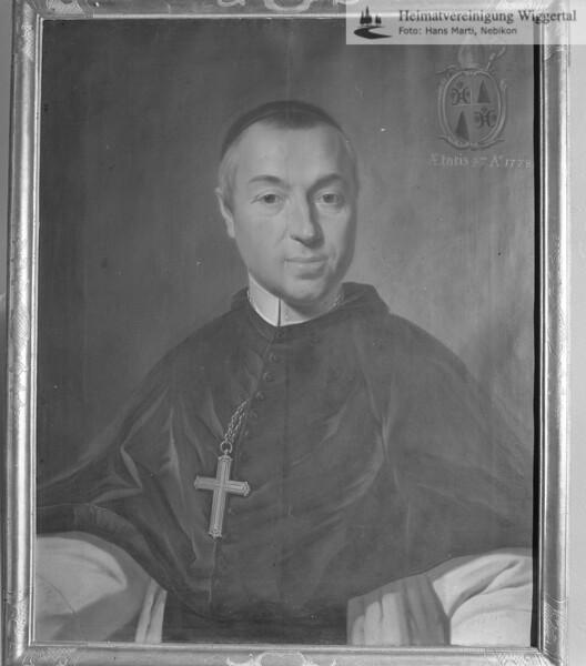 #100439 | wo?; Benedikt Pfyffer von Altishofen; Abt im Kloster St. Urban von 1768 - 1781; ea