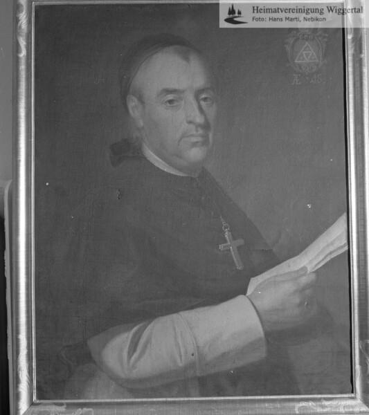 #100435 | Portrait von Martin Balthasar, Abt in St.Urban von 1781 - 1787; elaf